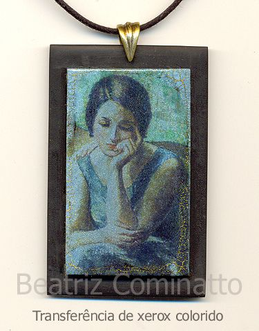 transferência de fotocópia colorida (polymer clay) | Flickr