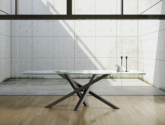 Riflessi srl | Tavolo Shangai | Riflessi | Pinterest | Glass table ...