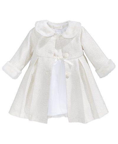 ed4c6883b Blueberi Boulevard 2-Pc. Coat with Faux-Fur Trim   Dress Set
