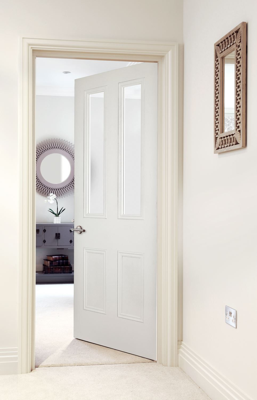 Knightsbridge 2 Light Primed Fd30 Bespoke Door