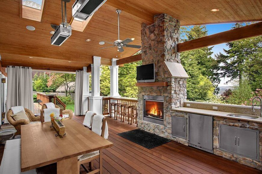 20 Outdoor Kitchen Design And Ideas That Will Blow Your Mind Outdoor Kitchen Design Craftsman Porch Outdoor Rooms