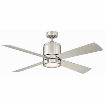 Brushed Nickel Led Ceiling Fan With Frosted Glass