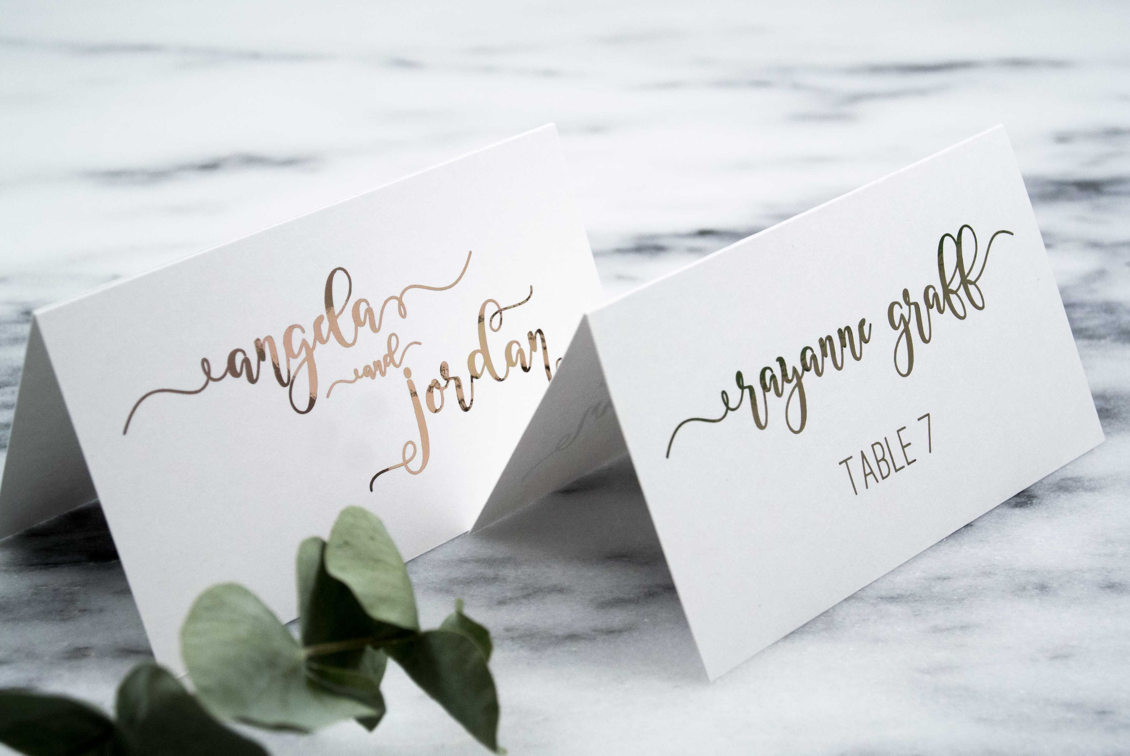 Angela & Jordan Place Cards: Complement your wedding reception with ...