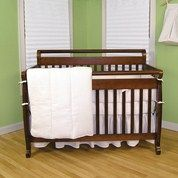 White Pique - 3pc Crib Bedding Set