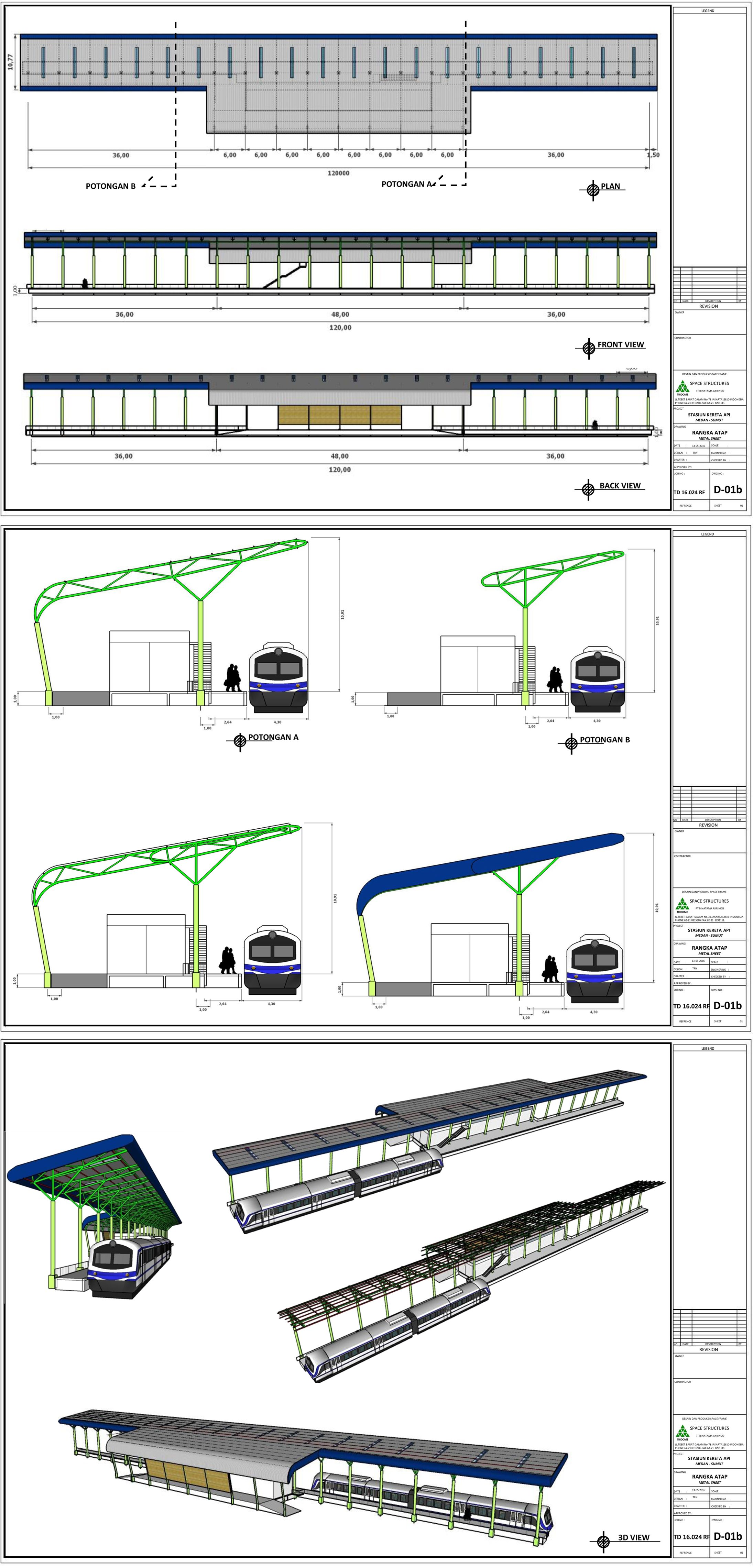 Aplikator Baja Ringan Medan Peron Stasiun Kereta Di Struktur Konstruksi Konventional