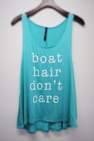 Boat Hair Don't Care Tank - Mint >> www.anchorabella.com New Arrivals Daily! Fast, Free Shipping!