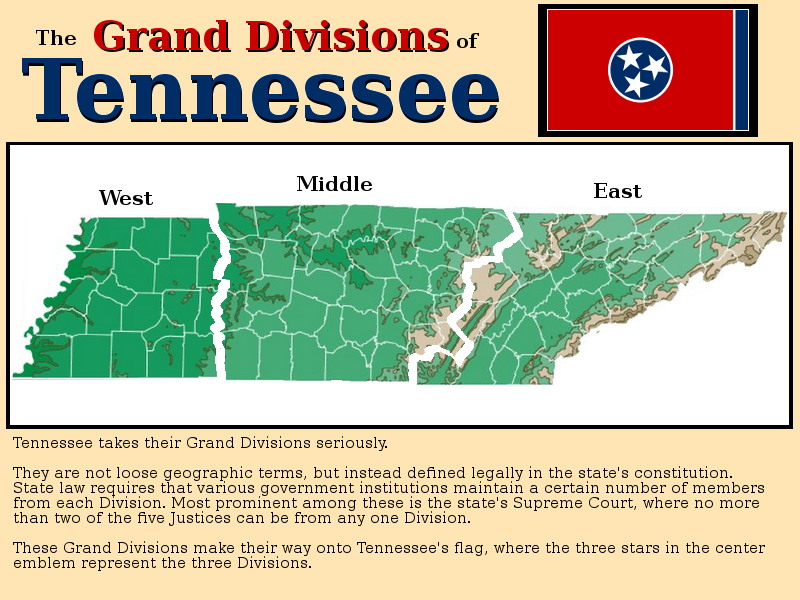 A Physical Map of Tennessee\'s Grand Divisions   mapmania ...