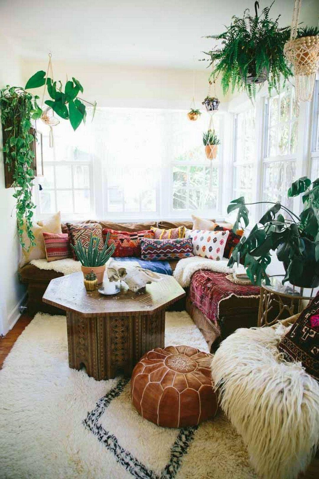 Home decor plants ideas   Top Bohemian Style Decor Tips with Adorable Interior Ideas