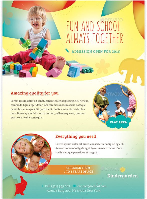 Nanny Daycare Flyer Template Daycare Flyer Magazine Ad This