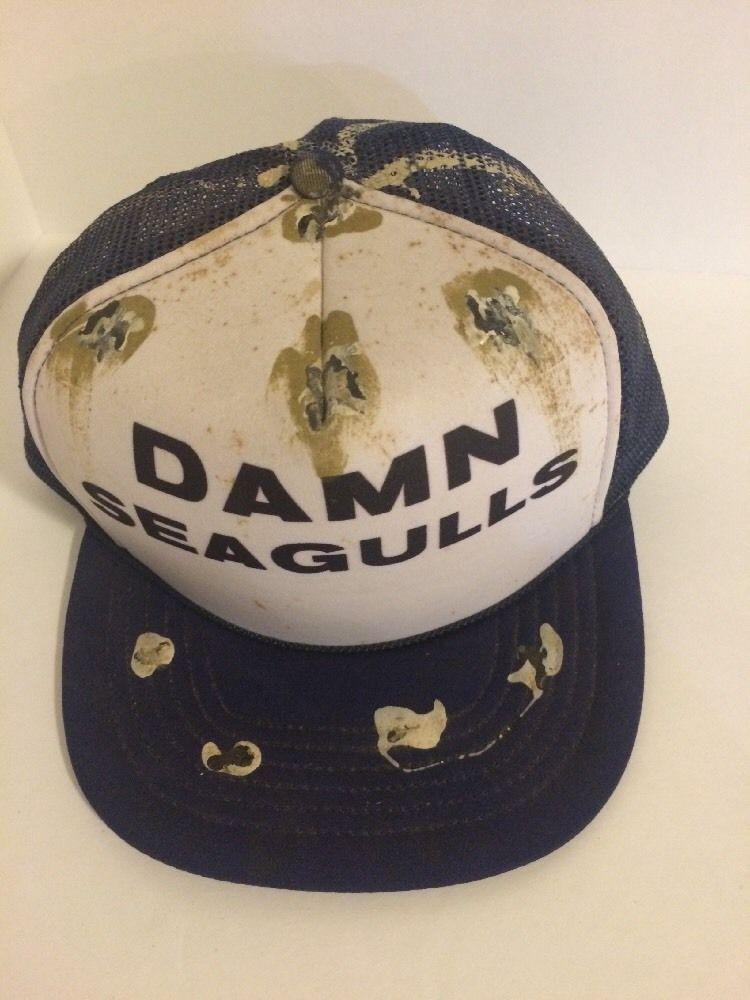 d7ae53cb6c98b2 Vintage Snapback Trucker Cap Mesh Hat Cap Dam SEAGULLS (Seagull Crap)  #Unbranded #Trucker