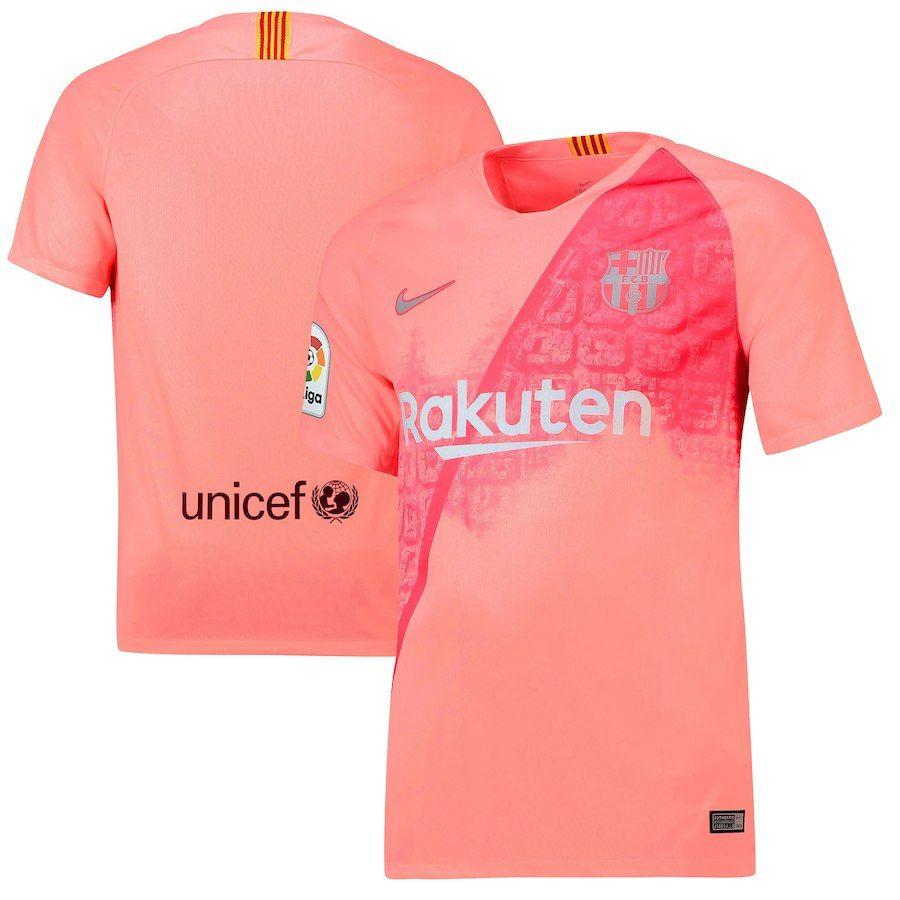 Barcelona Nike 2018 19 Third Replica Stadium Jersey – Pink  fbbc9782543