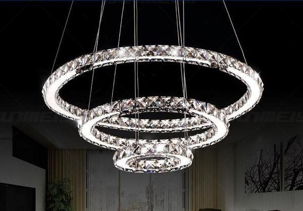 Circular Crystal Led Chandelier Huis Ideeen Decoratie