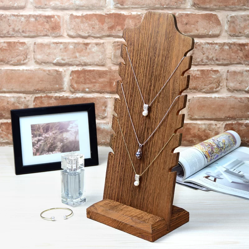 Necklace Easel Display Jewelry Stand Wooden Jewelry Display