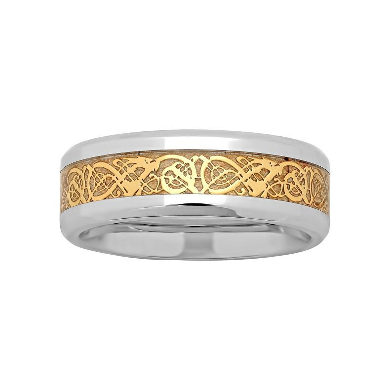 Jcpenney   Mens Two Tone Celtic Dragon Wedding Band   Jcpenney