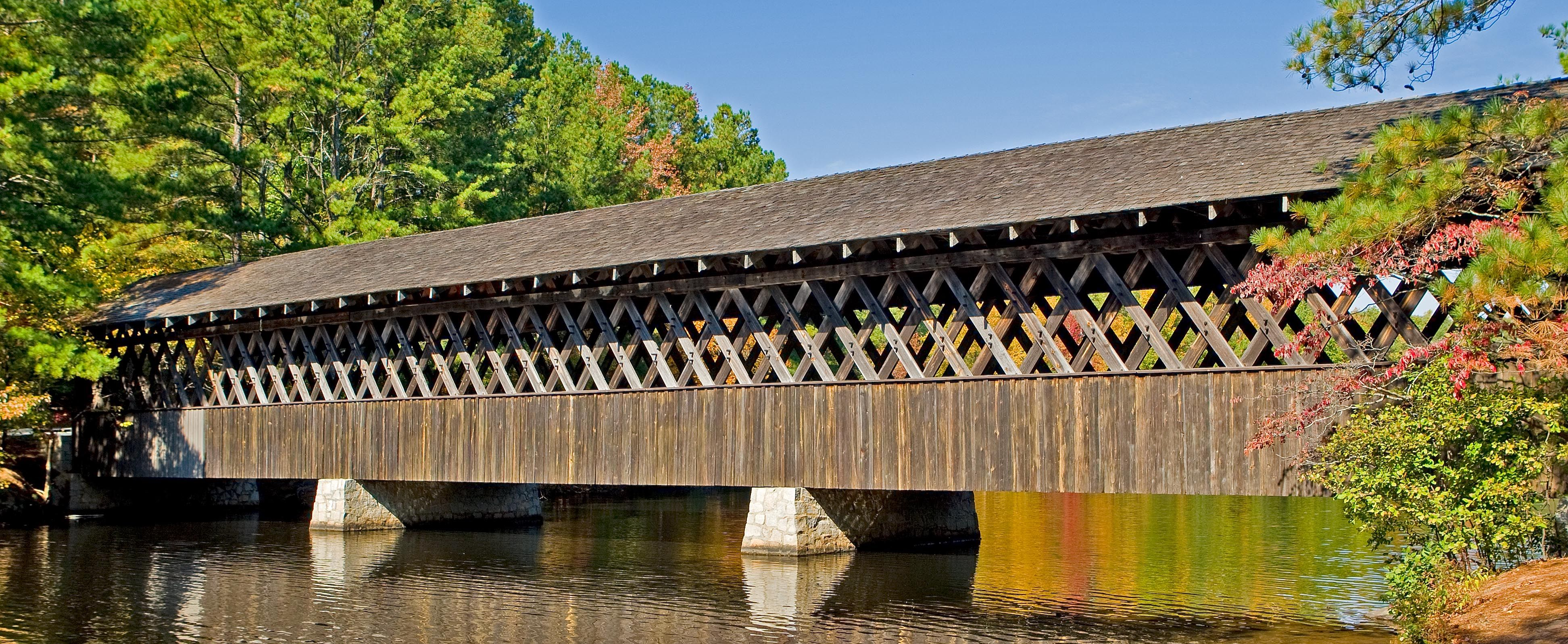 Covered Bridge at Stone Mountain, GA. Covered bridges