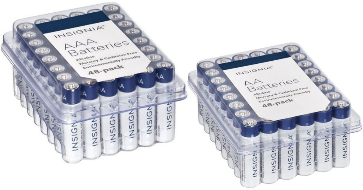Insignia Aa Or Aaa Batteries 48 Pack Only 7 64 Shipped Just 0 16 Per Battery Best Buy Has The Insignia Aa Cool Things To Buy Battery Pack Aaa Batteries