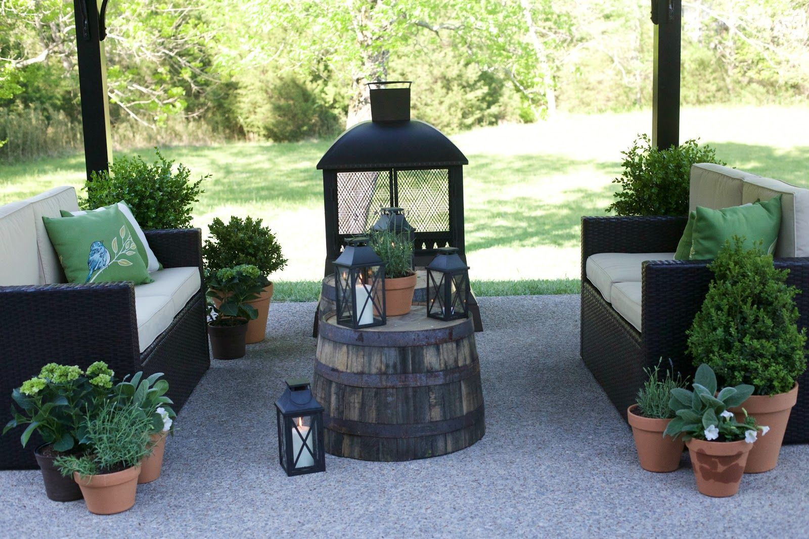 Lowe's Spring Makeover Reveal | Diy garden furniture ... on Lowes Outdoor Living id=30907
