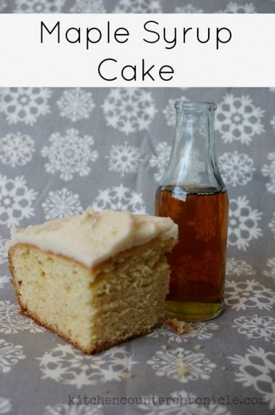 Maple Syrup Cake With Maple Syrup Icing Recipe Syrup Cake