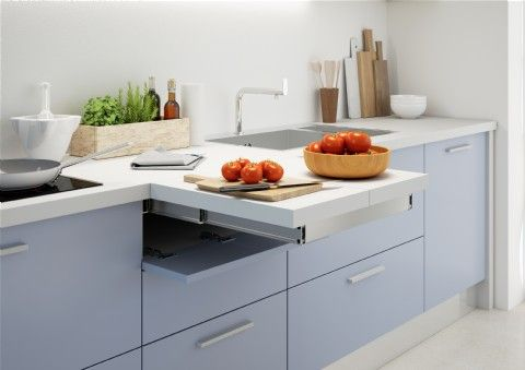 Flip Top Is A System That Enables A Folding Extension To Be Pulled Out For A Drawer And End Up Flush With The Kitchen Worktop Kitchen Design Home Decor Kitchen