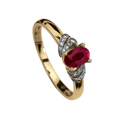 Anillo Oro 14k Con 8 Puntos De Diamante Y 55 Puntos De Rubí Precio Boutique 5 856 00 Precio Tienda Online 5 563 00 Piedras Preciosas Anillos De Oro Joyas