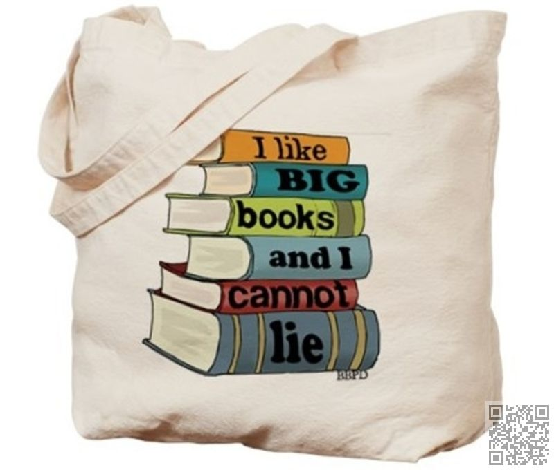 6. I like Big #Books & I #Cannot Lie - If You Love Books You'll Love These Bags ... → Bags #Library
