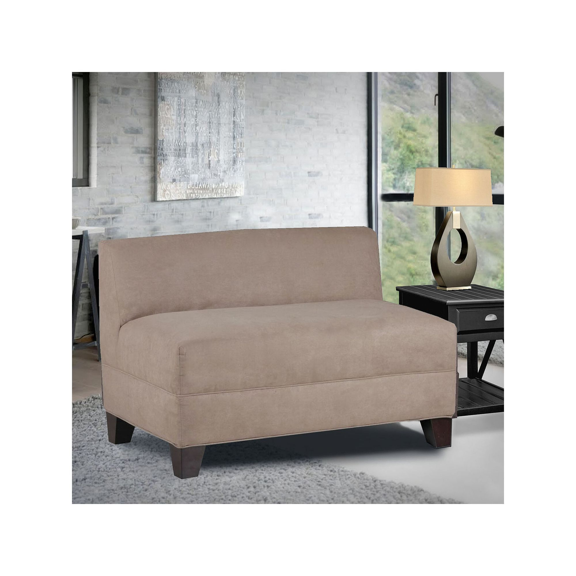 epicenters outdoor loveseat brentwood wicker armless