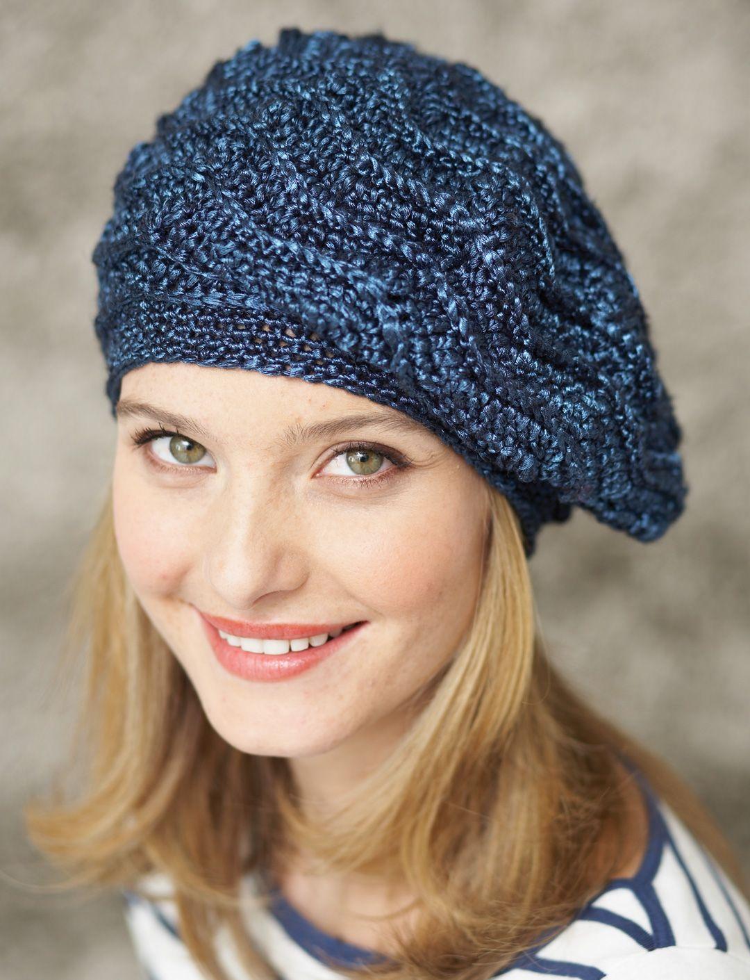 Wave Stitch Beret   Yarn   Free Knitting Patterns ...