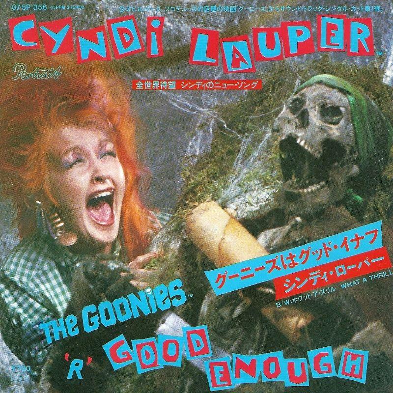 """CYNDI LAUPER The Goonies 'R' Good Enough JAPAN 7"""" 07.5P"""