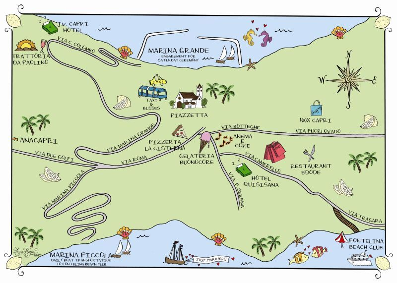 Capri, Italy Map | ITALY | Italy map, Map, Capri italy on