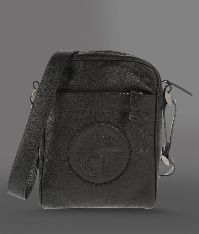 2d2793b5f323 Giorgio Armani Men Messenger Bag - Small Shoulder Bag In Tumbled Calfskin  Giorgio Armani Official Online Store