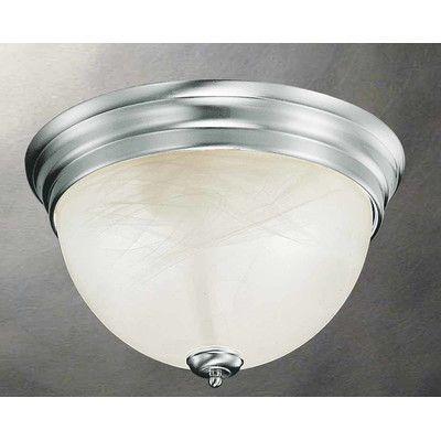 Volume Lighting Troy 2 Light Flush Mount Finish: