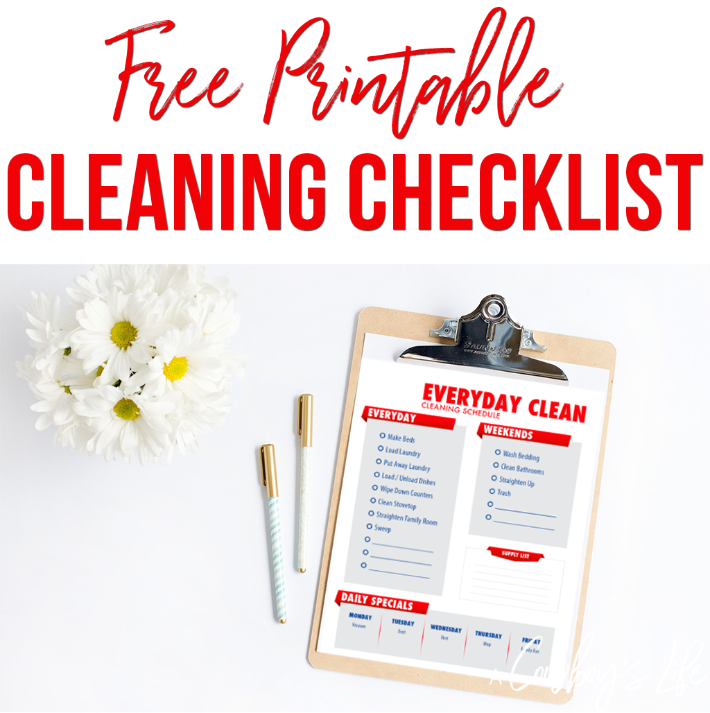 Here S A Everyday Cleaning Checklist You Can Use To Clean