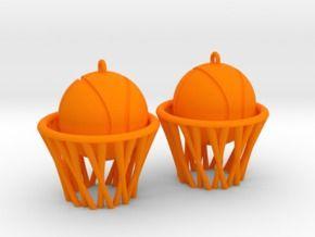 Basket earrings in Orange Strong & Flexible Polished