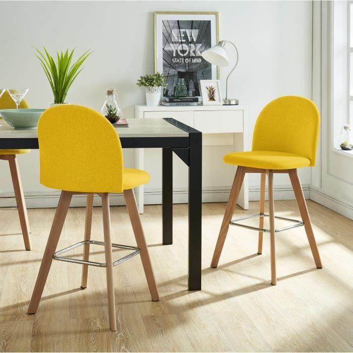 Fauteuil en 2019 tabouret de bar bois tabouret et bois - Tabouret de cuisine design jaune ...