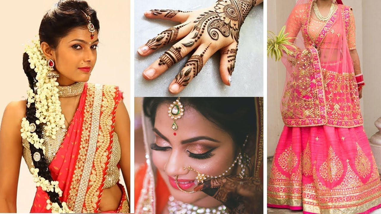Mehndi Hairstyles With Paranda : Makeup #hairstyle #mehndi #sareedraping #hair #garba #makeuptutorial