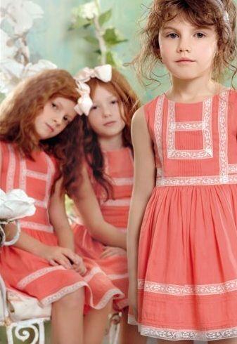 6ffbbae10 catalogo-el-corte-ingles-moda-infantil-nina-vestidos-coral | lace ...