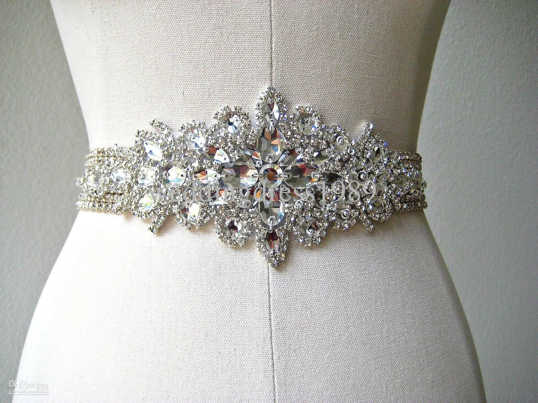 Wedding Bridal Sashes wholesale bridal sashes belts buy freeshipping wide beaded wedding dress belt sashes