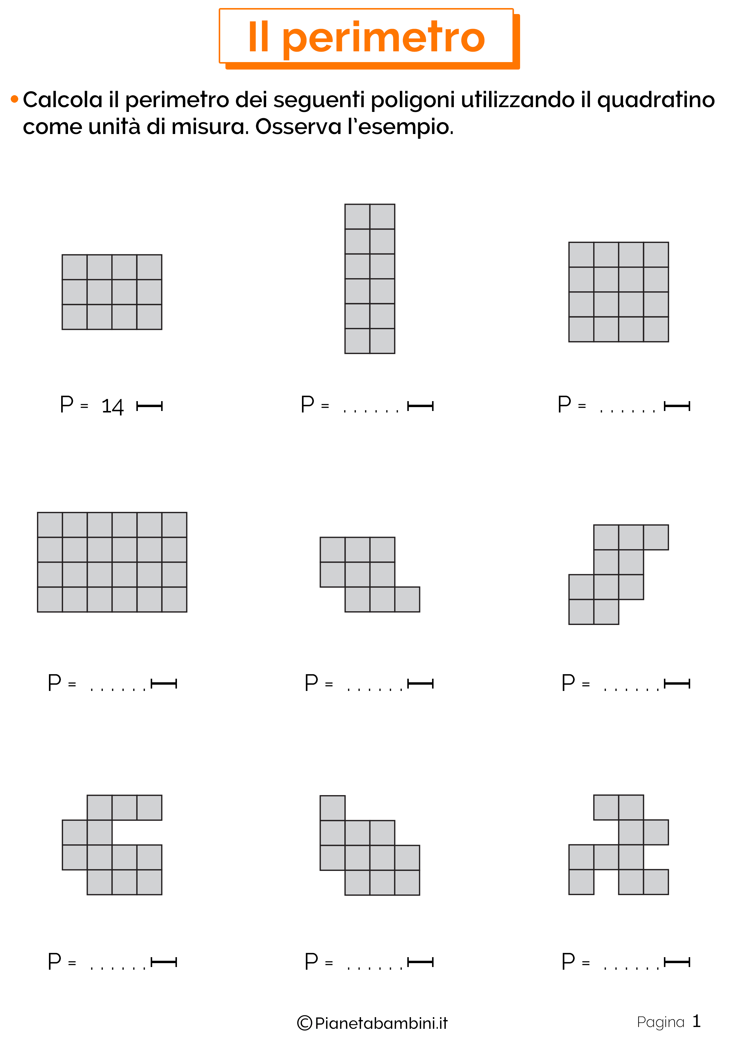 Area And Perimeter By Counting Squares Worksheet