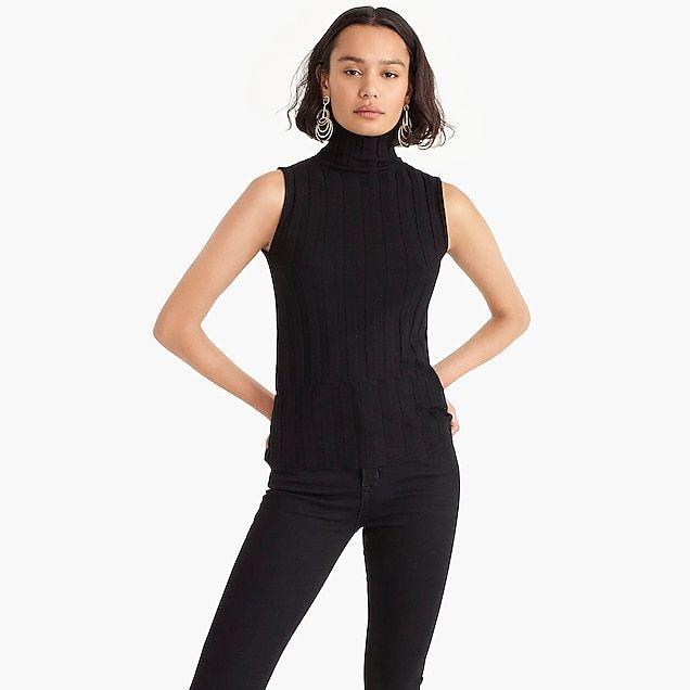 9c2b4fa0c5a0 women's j.crew 365 stretch sleeveless turtleneck ribbed sweater - women's  sweaters