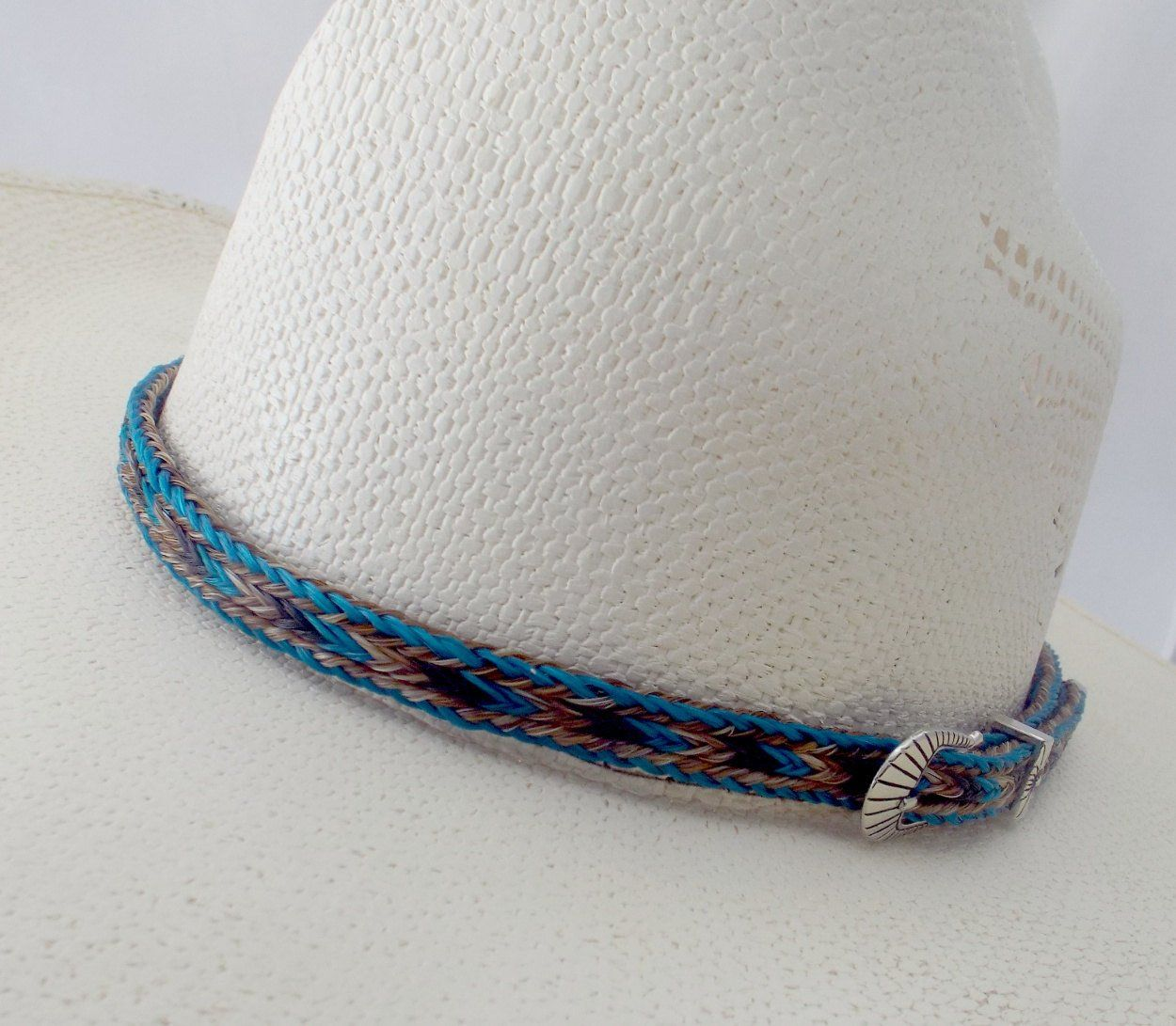 Horsehair hat band, BOLD, Cowboy horsehair hat band, Side