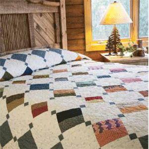 Quick Scrap Quilts | Confetti Tiles queen size quilt is patterned ... : quilting queen - Adamdwight.com