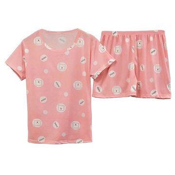 Yimengmei New Pajamas Womens Season Sweet And Lovely Mimi Bear Home Service Shortsleeved Shorts Yimengmei New Pajamas Womens Season Sweet And Lovely Mimi Bear Home Servic...