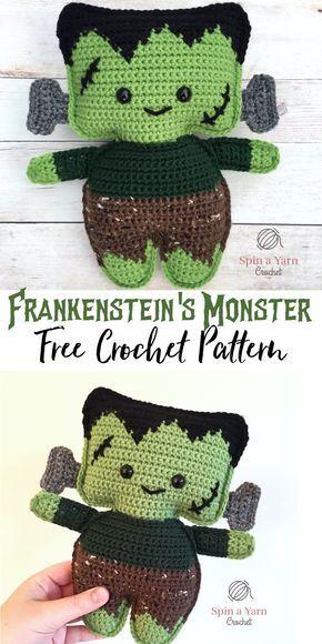 Frankenstein\'s Monster Free Crochet Pattern | Halloween | Pinterest ...
