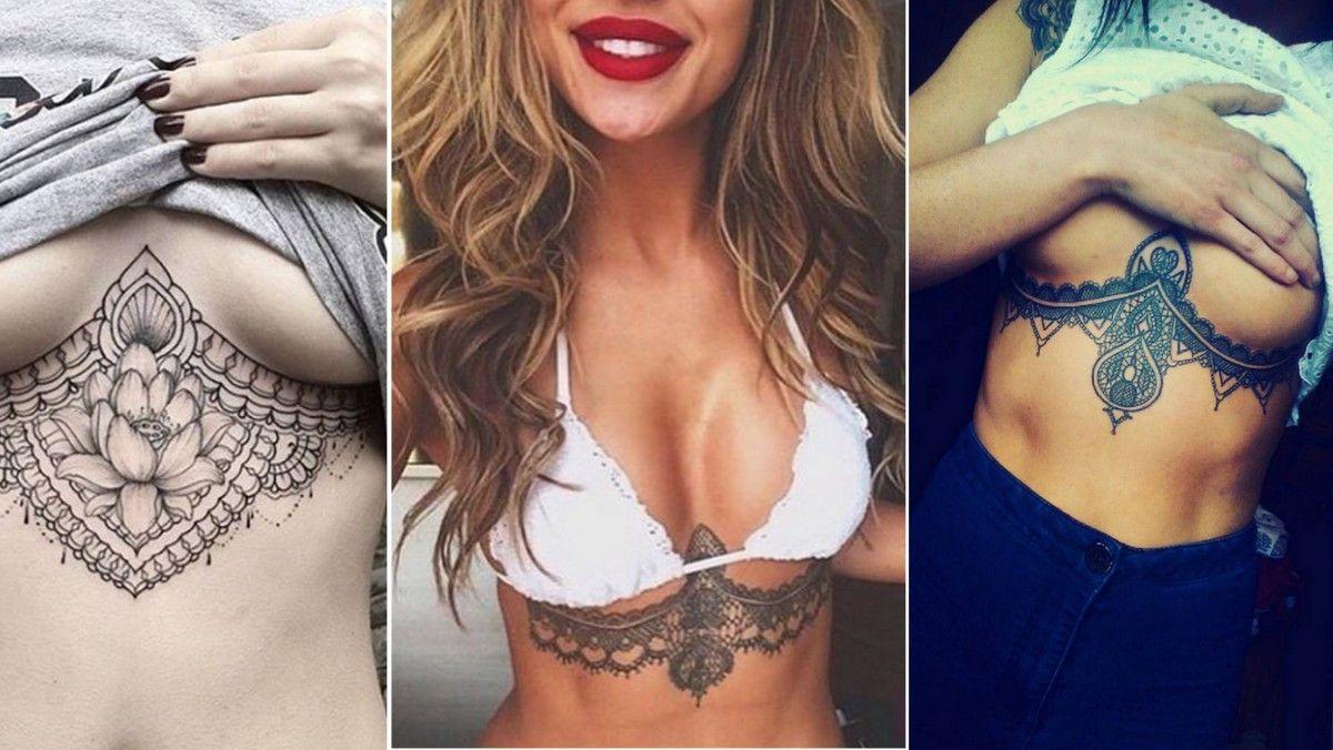 tatuering under bröstet