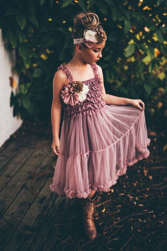 a7c79eb3cda dusty rose flower girl dress flower girl dresses by PoshPeanutKids ...