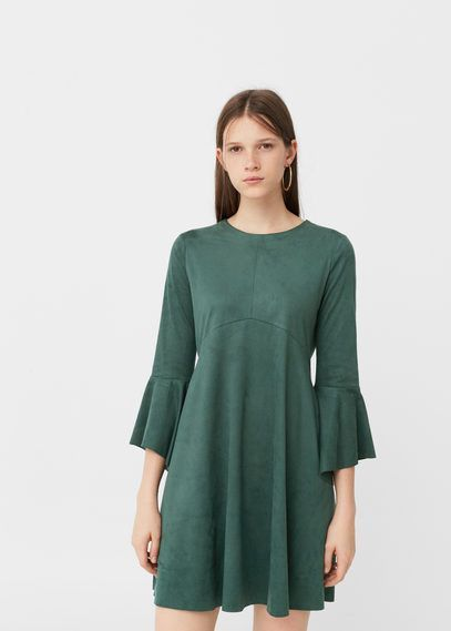 Flared sleeves dress - Women | Products | Pinterest | Products