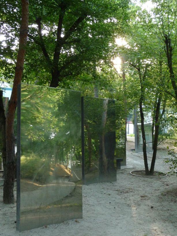 Le surprenant jardin des miroirs du parc de la villette paris 19e jardins que j 39 aime - Miroir exterieur jardin ...