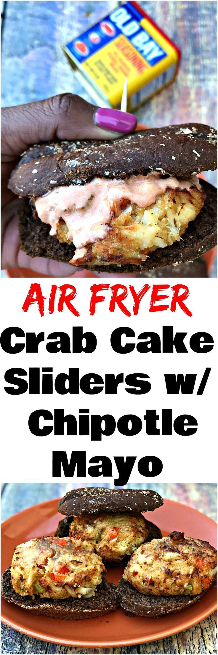 Air fryer fifteen minute old bay crab cake sliders is a