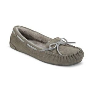 Any solid color (NOT black) moccasin slippers-size 8