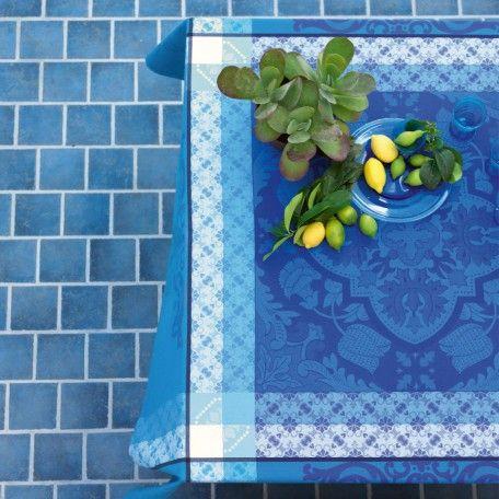 Nappe Azulejos Faïence 100% coton